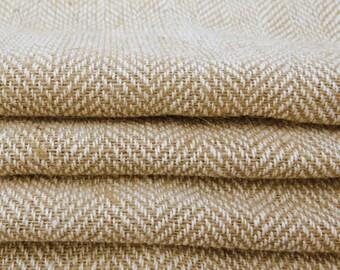 "Beige Burlap, Natural Fabric, Burlap Fabric, Sewing Accessories, Beige Jute Fabric, 45"" Inch Wide Jute Fabric By The Yard ZJC20A"