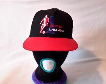 Vtg England Soccer Roman snapback hat cap Football Futbol Made in USA