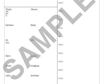 MED/SURG Report Sheet (nights 1900-0700)