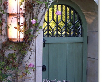 Kansas City Blessed Doorway-Inspirational Art-Garden Photography-Custom Art-Religious-Spiritual Proverbs Blessing Watching and Waiting