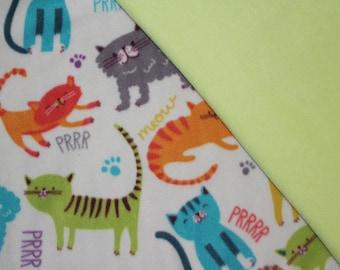 Kitty Cats! Cat Blanket, Pet Blanket, Fleece Blanket, Kittens Blanket