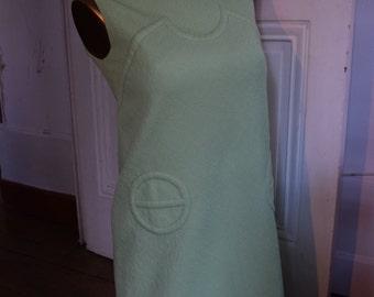 Summer Sale * Vintage 1960 S twiggy green Swingin London mods babydoll dress / / mods lime green Twiggy style dress vintage 1960's
