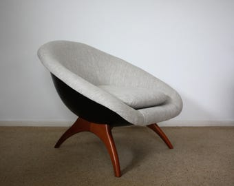SOLD: Rare Lurashell Space Age Mid Century Chair Retro Vintage 50s 60s 70s