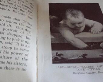 1912 Childhood in Art by Mrs. John B. Sherwood. Vintage Hardback