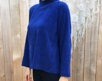 Electric blue cozy sweater