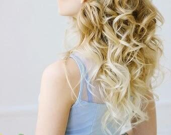 Bridal hair comb aqua blue comb wedding accessory crystal bridal headpiece