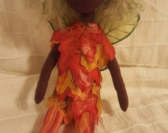 OOAK Cloth Doll- Autumn Fae