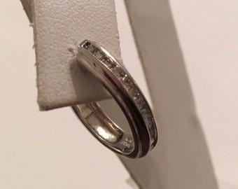Antique 14K White Gold Diamond Hoop Earrings, 24 Channel Set Diamonds