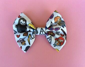 Harry Potter fabric bow, Harry Potter headband, Harry Potter bow tie