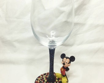 Mickey Mouse Wine Glass
