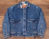 Mens Vintage Levis Red Tab Blanket Lined Workwear Denim Jacket White M 38 R4710