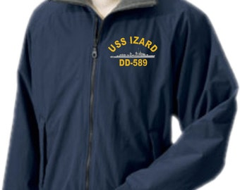 USS IZARD DD-589  Embroidered Jacket   New