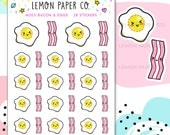 M003 Bacon and Eggs // Kawaii Planner Stickers