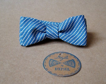 Man women print adjustable self-tie bowtie