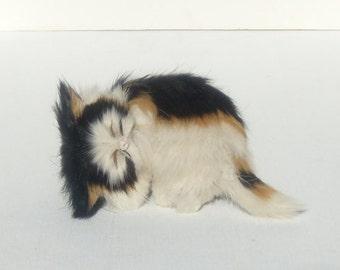 Rabbit Fur Sleeping Cat, Sleeping Fur Kitten, Sleeping Calico Cat