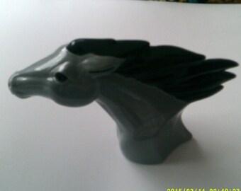 Spirit Grey Horse slip cast ceramic