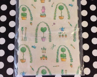 Grow with Love~Garden~Planting~Gardener~Vintage Gift Wrap~American Greetings~One Sheet