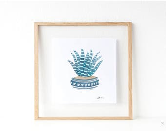 Cactus print: Succulent print | summer print | wedding favors idea | cactus wall art | cacti art | succulents and cacti. SERIES A