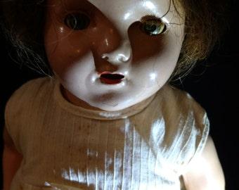 SUMMER SALE Antique Composition Doll