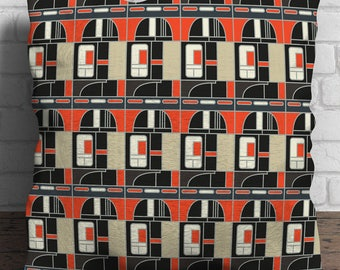 Block One linen cushion - Manchester Modernist Collection - Architecture - Mid Century