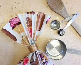 Sweet Treats Napkins featuring Watercolour Illustration - Set of FOUR