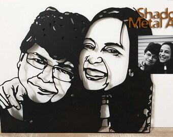 custom couple portrait   personalized couple portrait   personalized couple art   custom couple gift   personalized couples gifts