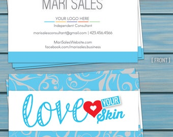 Rodan and Fields Business Cards - Love Your Skin Swirls - DIGITAL FILE ONLY