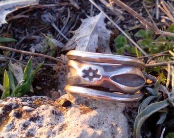 Sterling Silver tribal 925.plata ring. Gipsy.etnias. Thailand