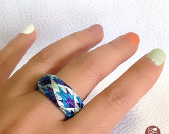 Yubinuki / Japanese thimble ring Yubinuki blue / Thimble