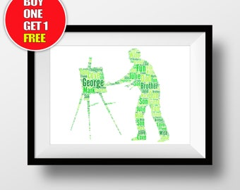 Painter artwork,  Painter present, Painter star sign , Painter word art
