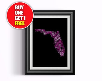 Florida artwork,  Florida present, Florida, Florida word art