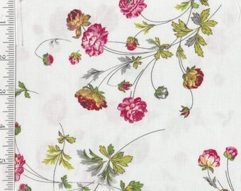 Floral on White - Charlotte - Per Yd - by Anna Griffin