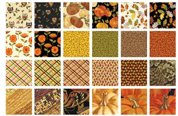 Leaf Into Autumn - (24) Fat Quarter Fabric Bundle ...