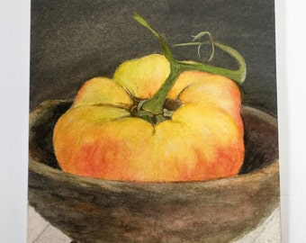 Heirloom tomato watercolor