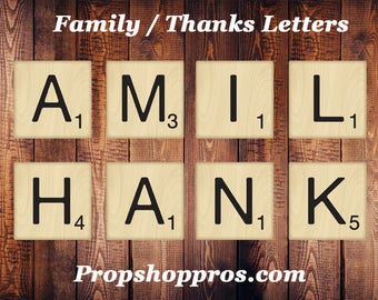 FAMILY / THANKS Letters Bundle | Photo Booth Props | Photographer Props
