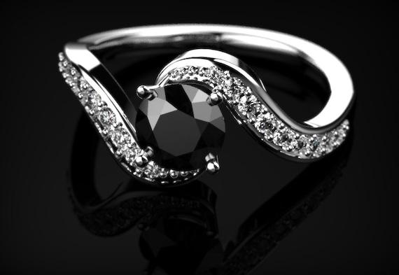 wei gold schwarzer diamant verlobungsring schwarzer diamant. Black Bedroom Furniture Sets. Home Design Ideas