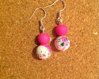 Vibrant Pink Earrings