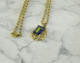 """Mystic Topaz 14K Gold Necklace(18"""")"""