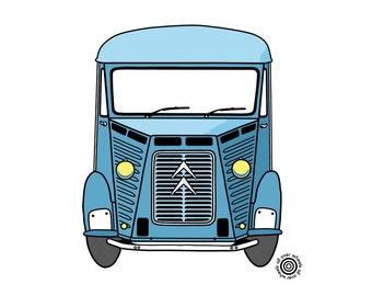 CITROEN HY van T-SHIRT! classic Citroen H-van tee Choice of car & hirt colors! Original art by Wheels All Over