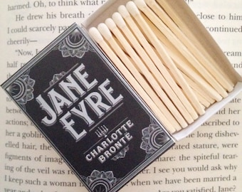 Jane Eyre Book Matches // Charlotte Bronte // Stocking Stuffers
