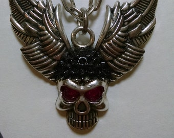 Biker Skull with H/D Wings ( you can get the chain longer or shorter )