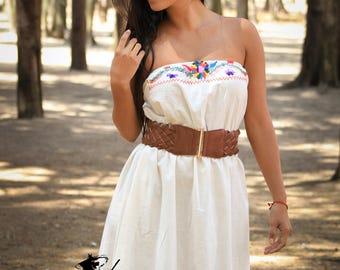 Strapless Bohemian Wedding Dress
