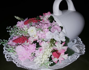 Flowered tea cup