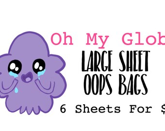Large Sheet Opps Bags/Grab Bags Stickers (6 Sheets for 8Aussiedollars)