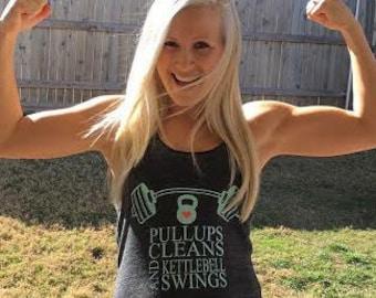 Pull Ups, Cleans & KB Swings - Womens Tank