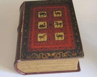 Rare Leather Jewelry  Box, Book Style Jewelry Box
