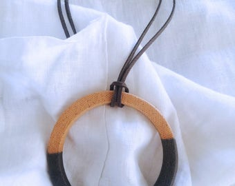 224. The Lunar Witch ceramic necklace.