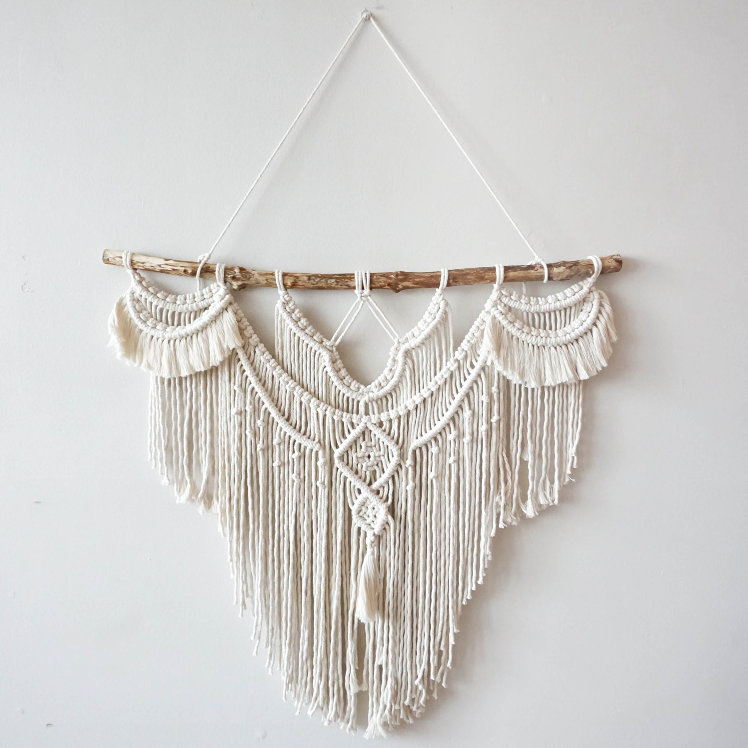 Large 30 macrame wall hanging tapestry macrame for Wall hangings