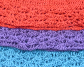 Beautiful crocheted infinity scarf available in many colors.  Free domestic USPS priority shipping!!