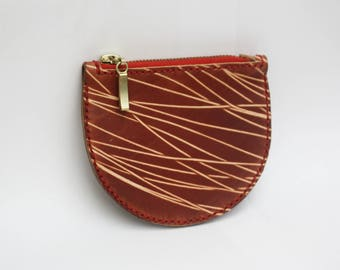 Circle Purse Red